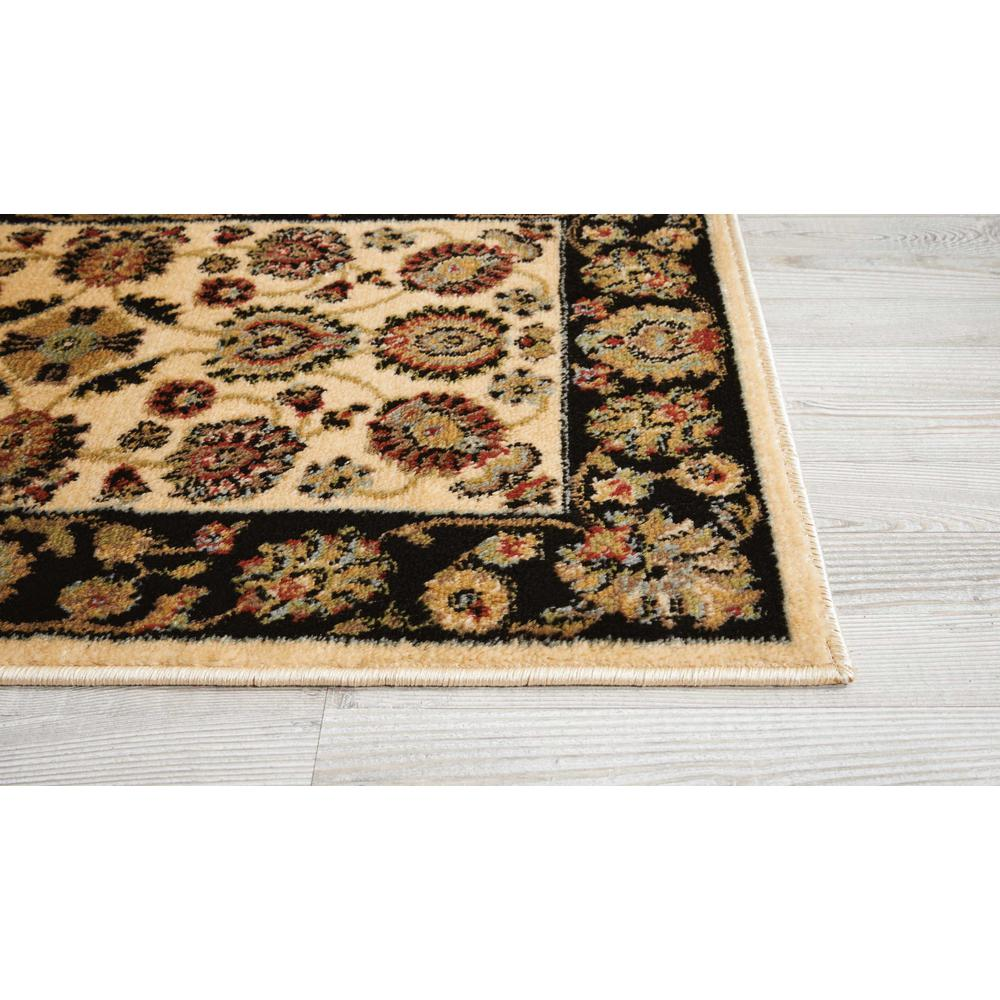 Delano Area Rug, Ivory/Black, 2' x 3'. Picture 3