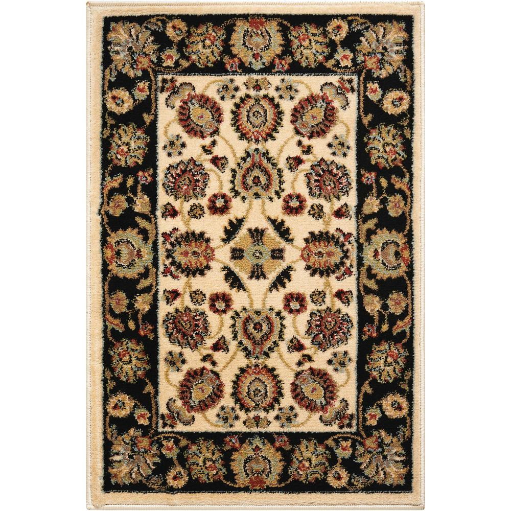 Delano Area Rug, Ivory/Black, 2' x 3'. Picture 1
