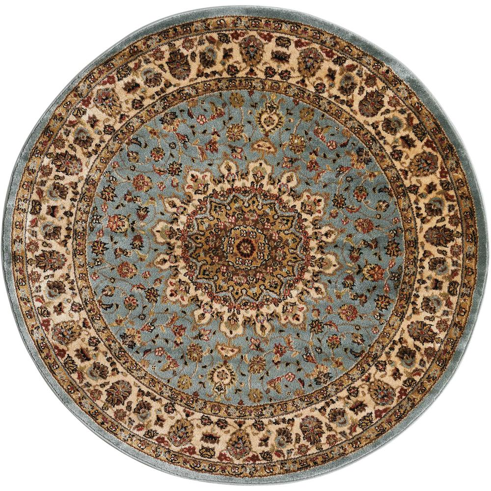 "Delano Area Rug, Blue, 5'3"" x ROUND. The main picture."