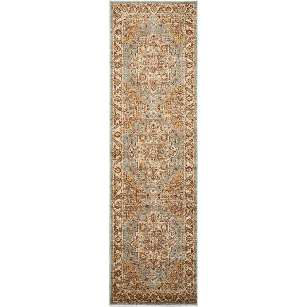 "Delano Area Rug, Blue, 2'2"" x 7'6"". Picture 1"