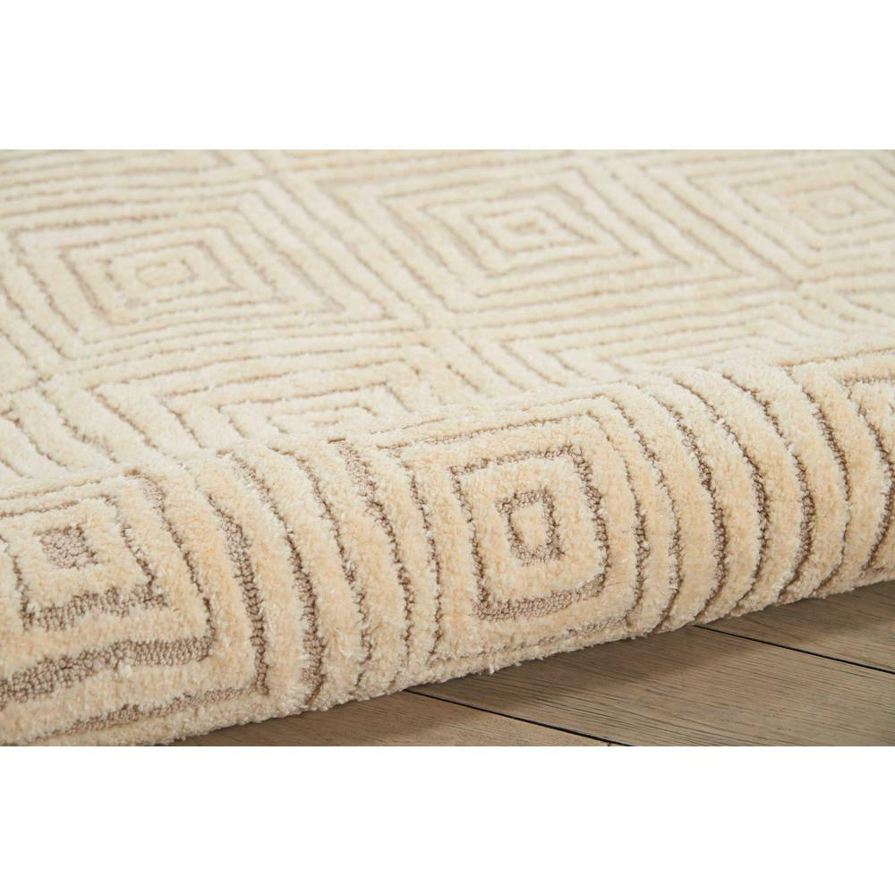 "Modern Deco Area Rug, Taupe/Ivory, 8' x 10'6"". Picture 3"