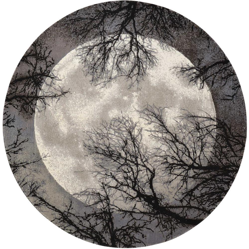 Twilight Area Rug, Moon, 8' x ROUND. Picture 1