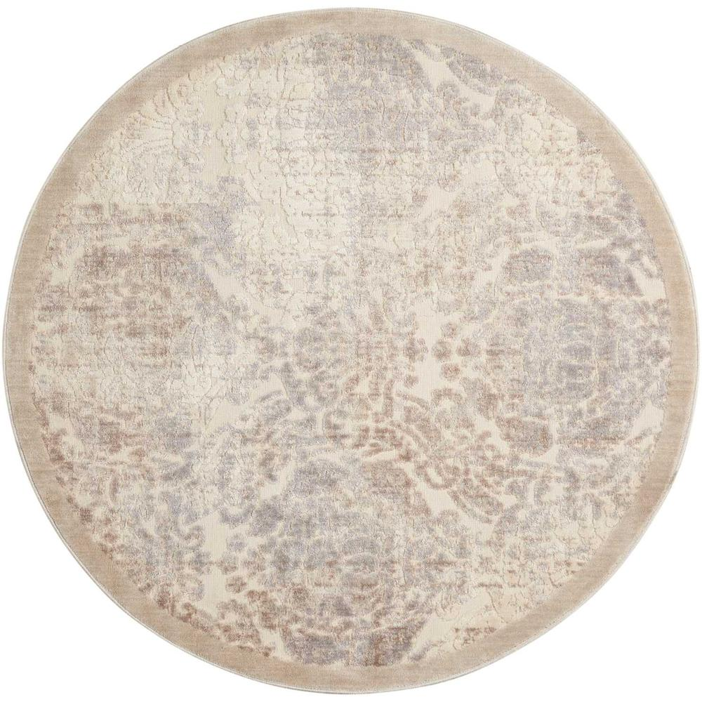 "Graphic Illusions Area Rug, Ivory, 7'9"" x ROUND. Picture 1"