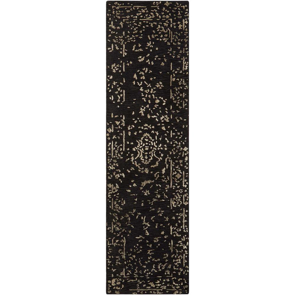 """Opaline Area Rug, Mmidnight/Silver, 2'3"""" x 8'. Picture 1"""