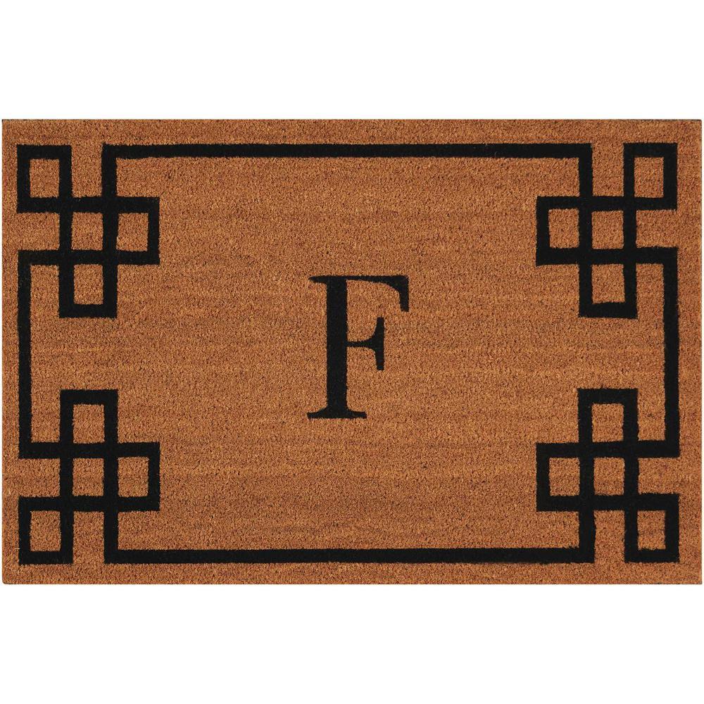 Nourison Elegant Entry Quot F Quot Natural Doormat