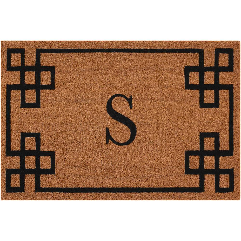 """Nourison Elegant Entry """"S"""" Natural Doormat. Picture 1"""