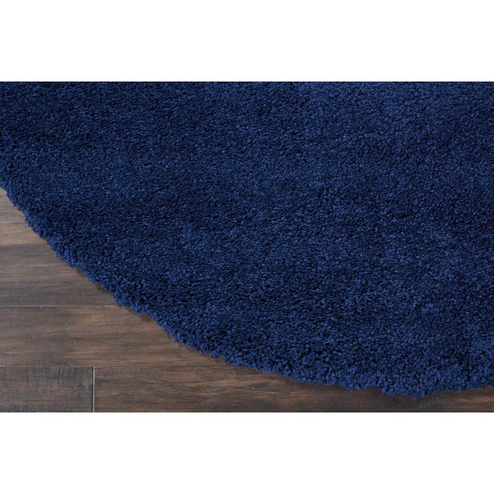 "Malibu Shag Area Rug, Navy, 7'10"" x ROUND. Picture 2"