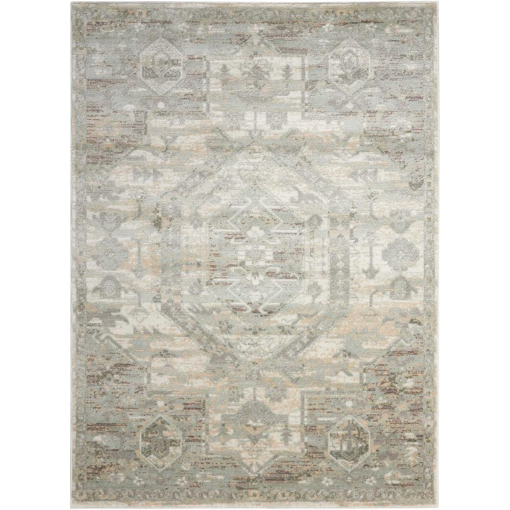 "Euphoria Area Rug, Ivory, 5'3"" x ROUND. The main picture."