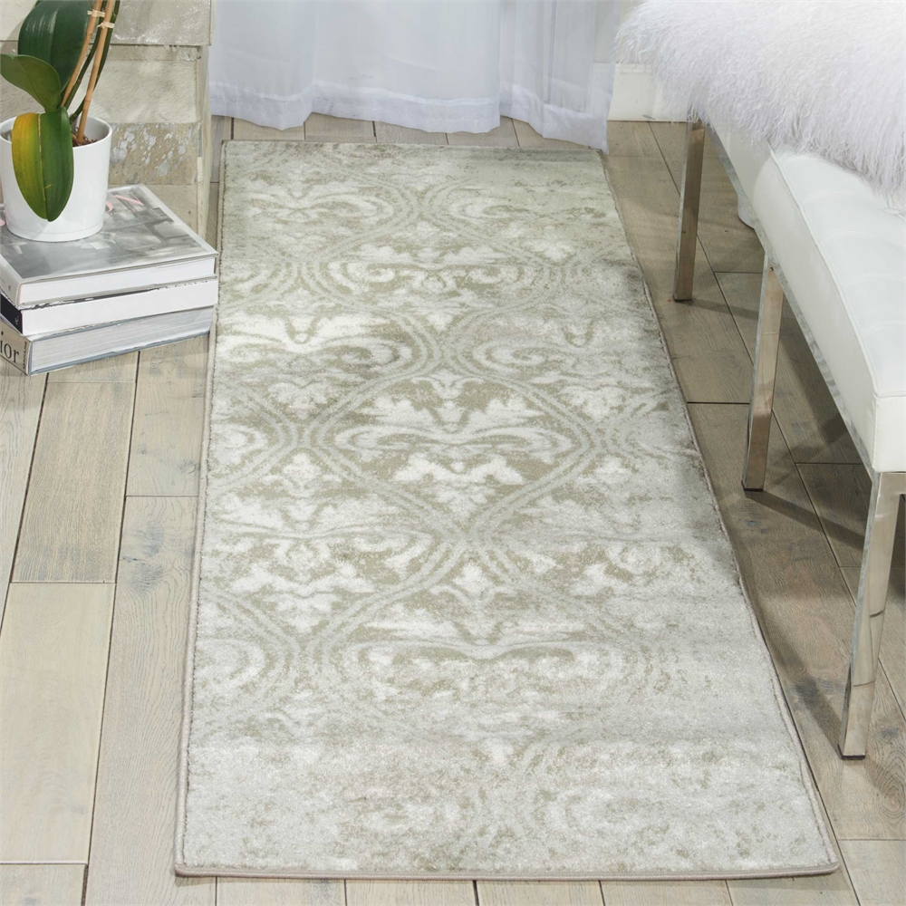 "Euphoria Area Rug, Grey, 2'2"" x 7'6"". Picture 6"