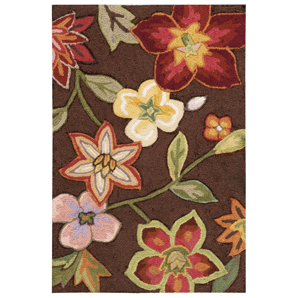"""Fantasy Area Rug, Chocolate, 1'9"""" x 2'9"""". Picture 1"""