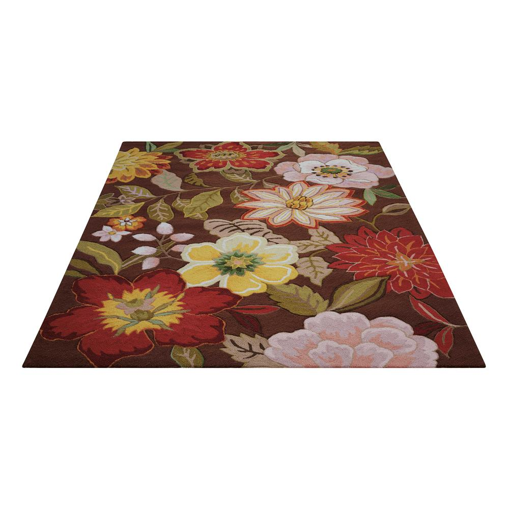 "Fantasy Area Rug, Chocolate, 2'6"" x 4'. Picture 1"