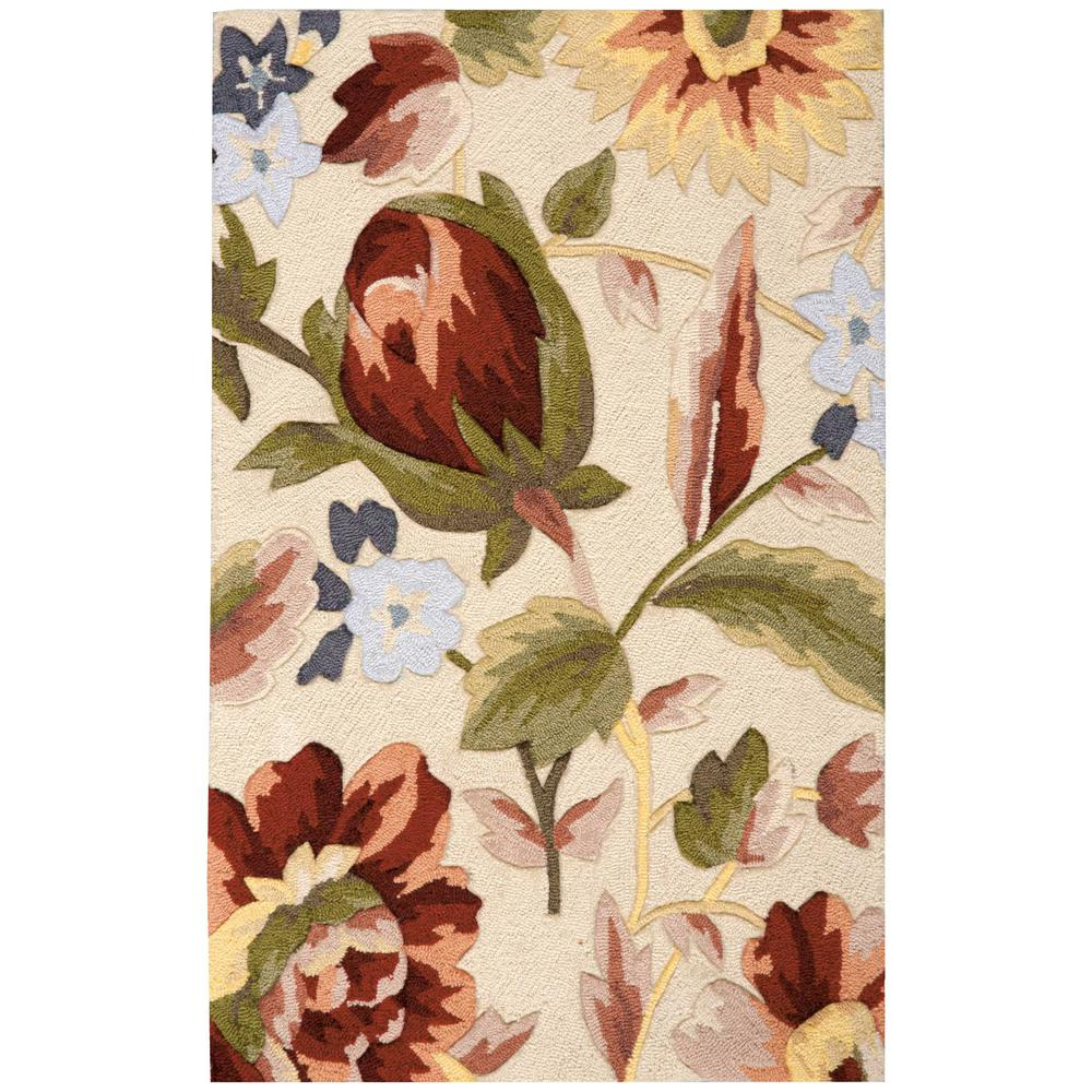 """Fantasy Area Rug, Ivory, 2'6"""" x 4'. Picture 1"""
