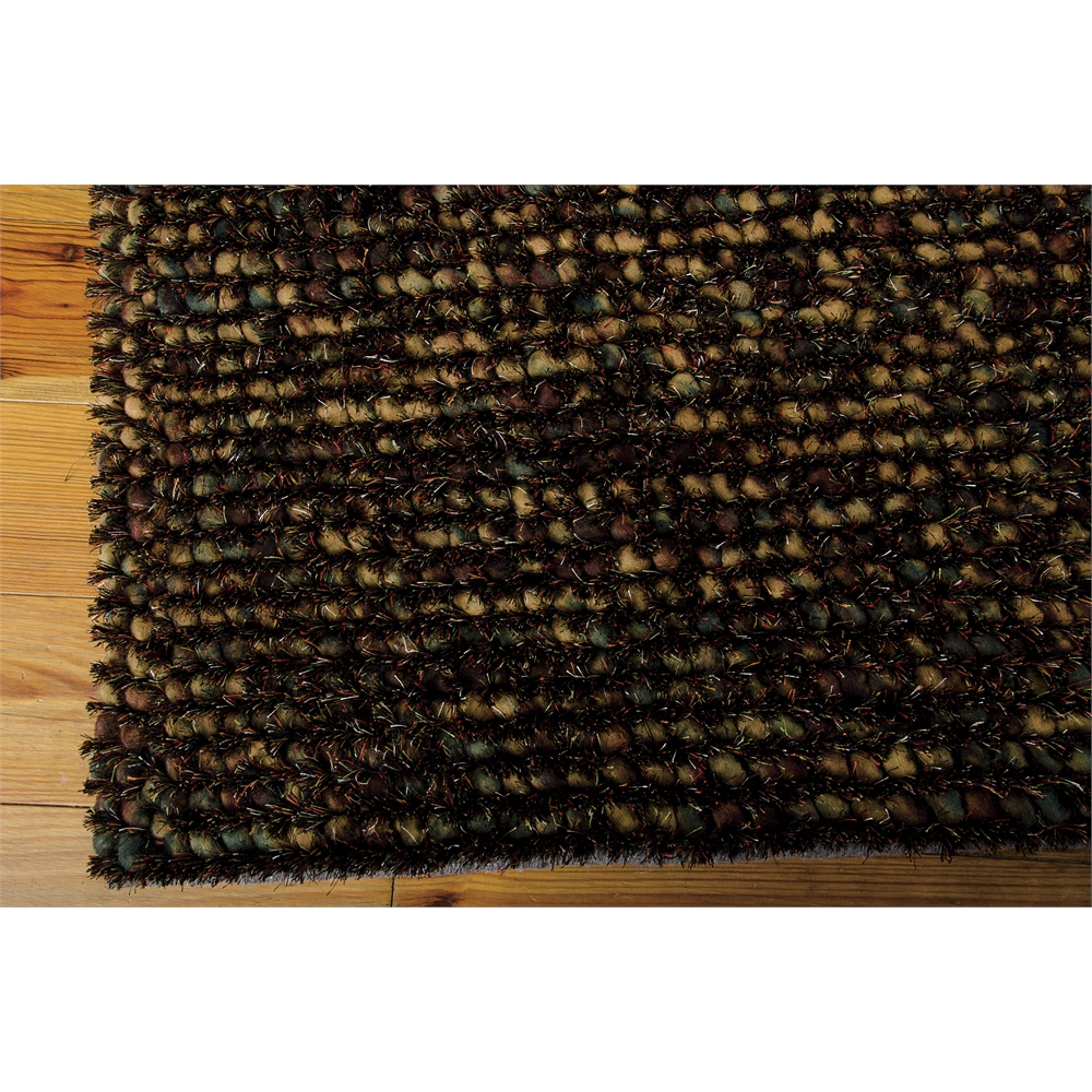 Fantasia brown shag area rug for Office shag