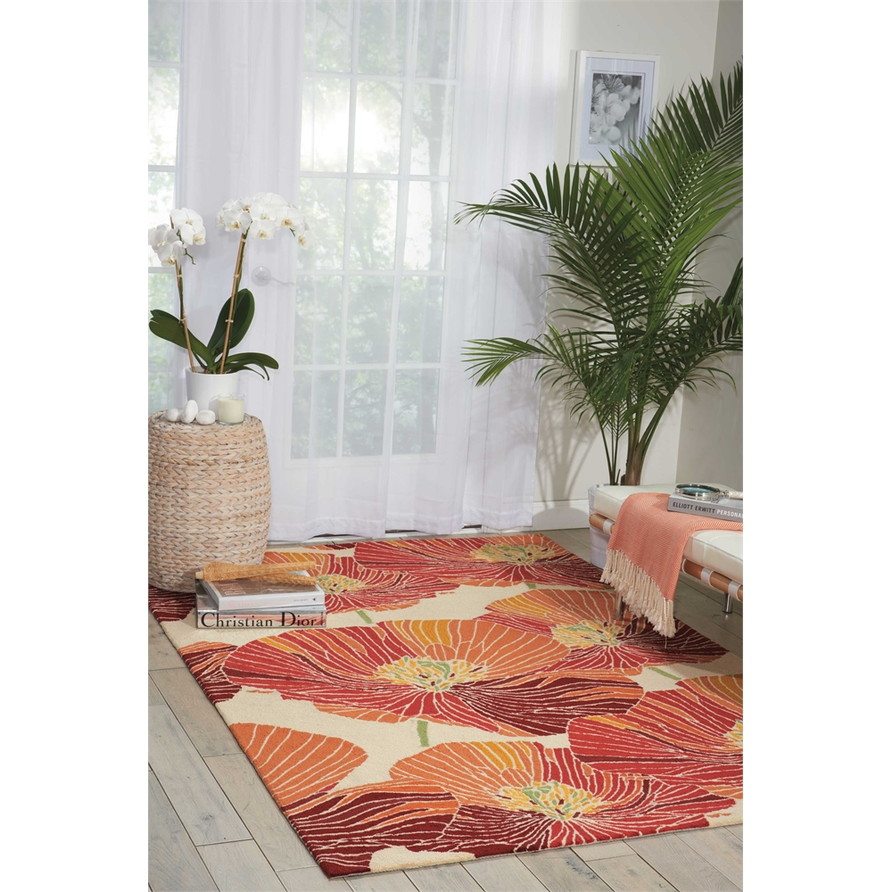 "Fantasy Area Rug, Sunset, 5' x 7'6"". Picture 6"