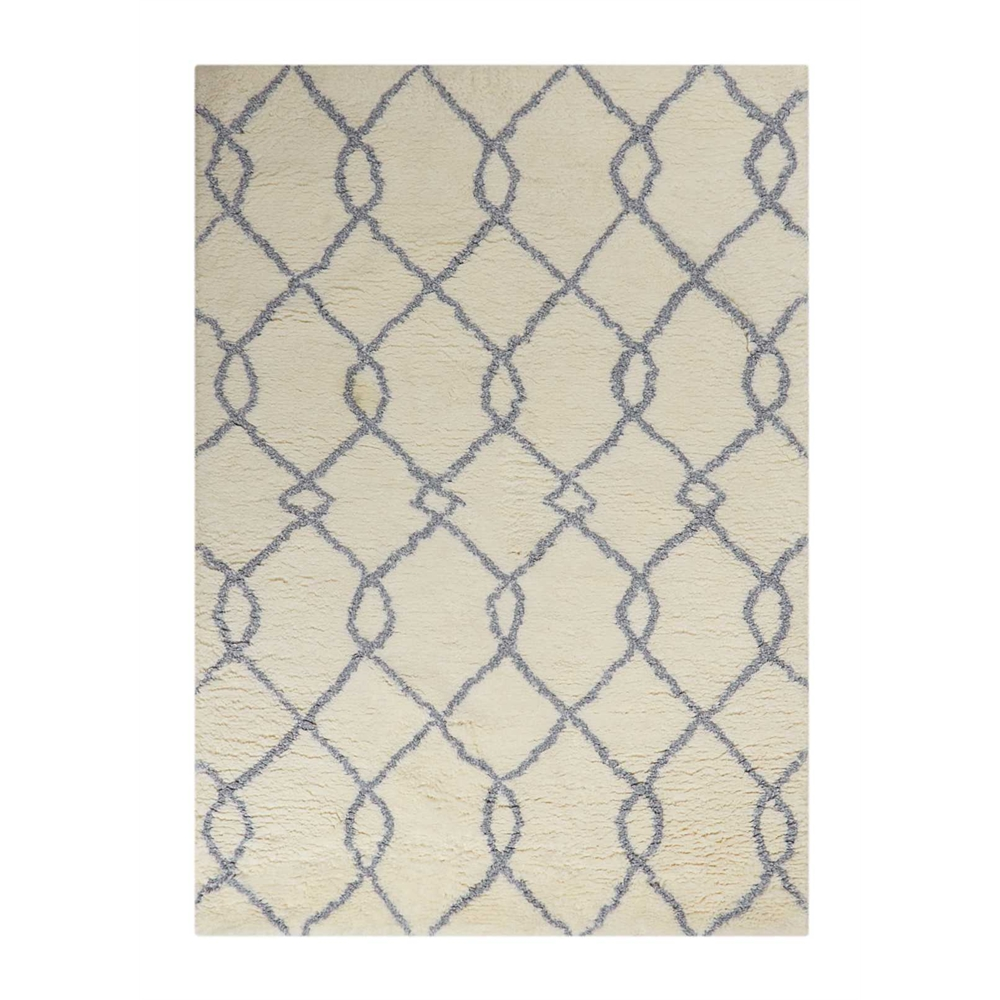 Galway Area Rug, Ivory/Blue, 5' x 7'. Picture 1