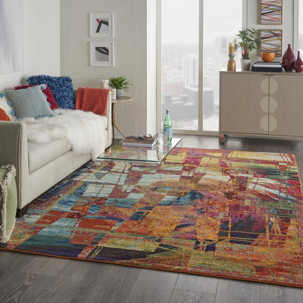 """Celestial Area Rug, Stained Glass, 7'10"""" x 10'6"""". Picture 6"""