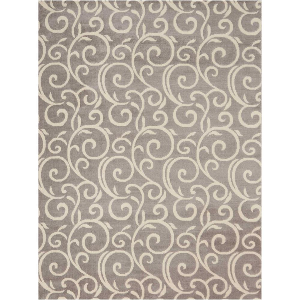 "Grafix Area Rug, Grey, 5'3"" x 7'3"". Picture 1"