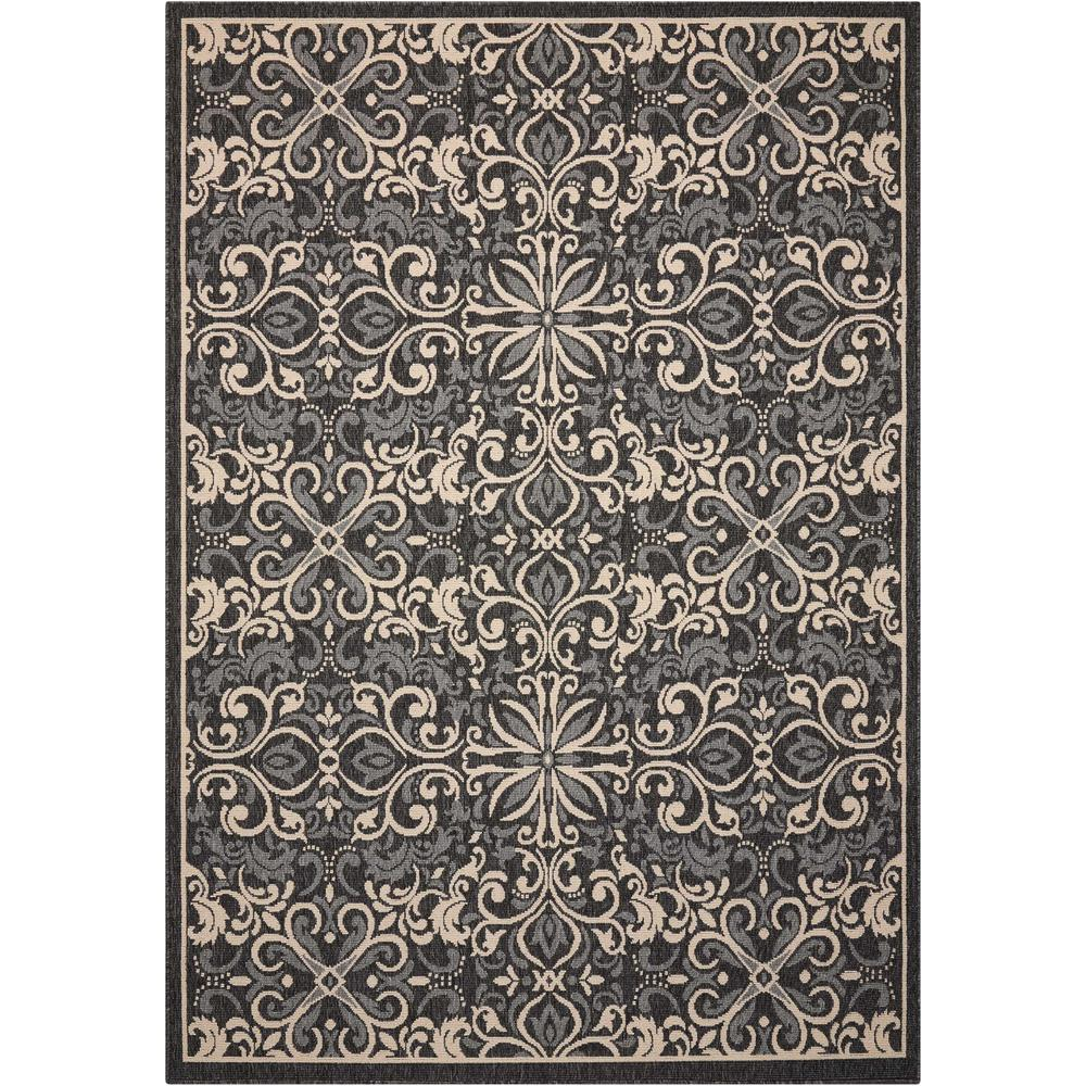 "Caribbean Area Rug, Charcoal, 2'6"" x 4'. Picture 1"