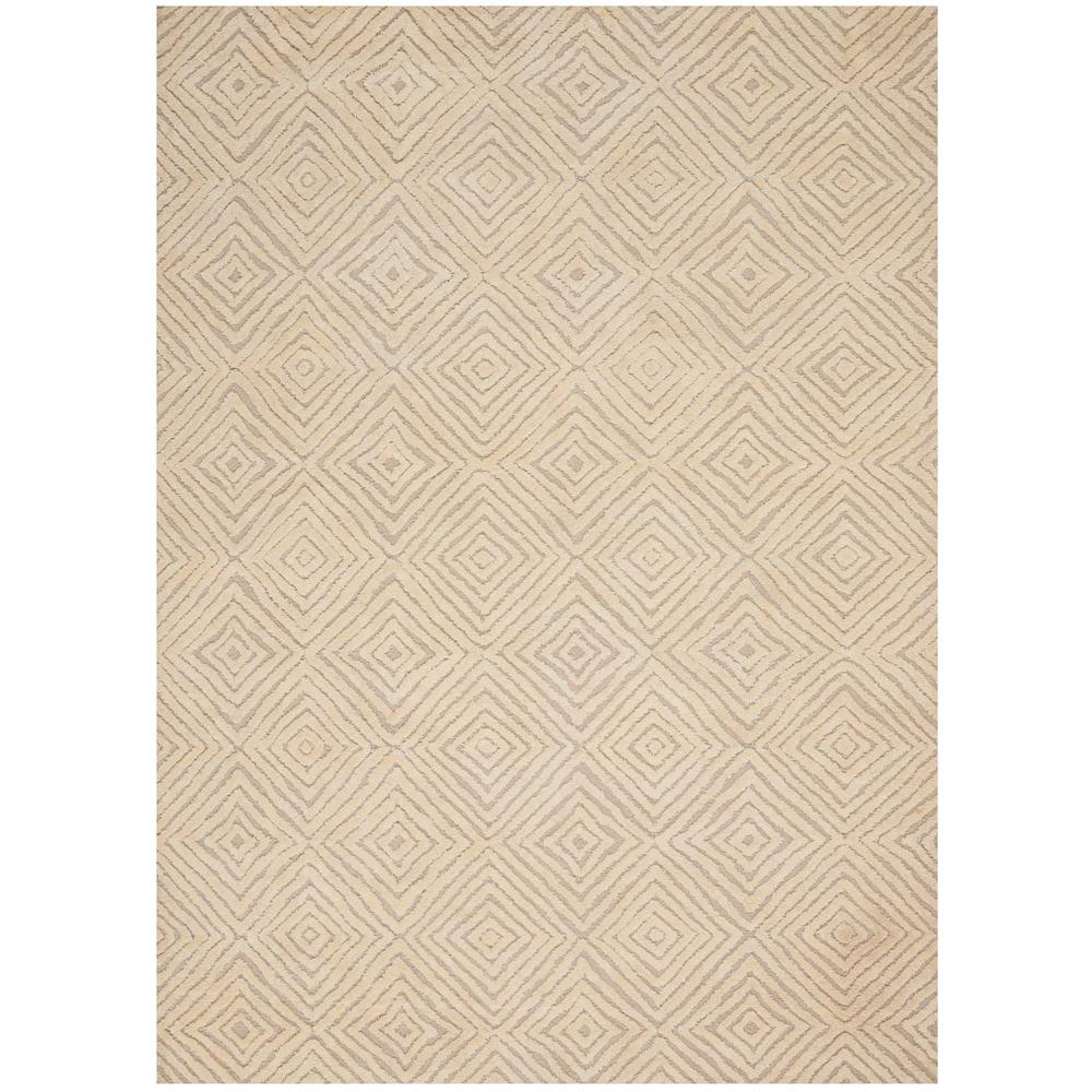 "Modern Deco Area Rug, Taupe/Ivory, 8' x 10'6"". Picture 1"