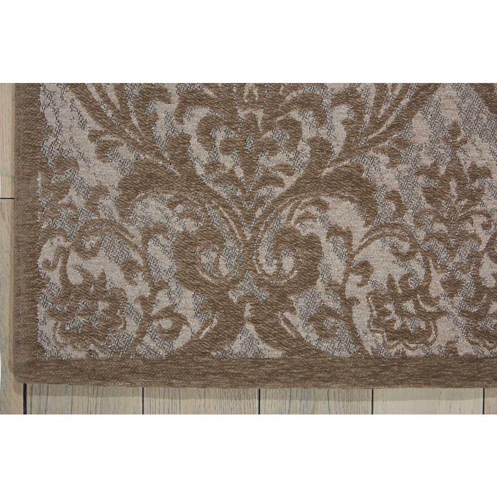 Damask Area Rug, Grey, 8' x 10'. Picture 2