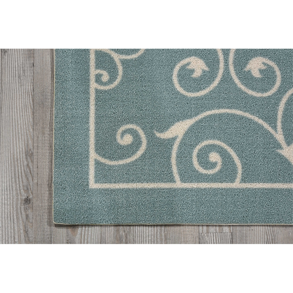 """Home & Garden Area Rug, Light Blue, 2'3"""" x 3'9"""". Picture 2"""