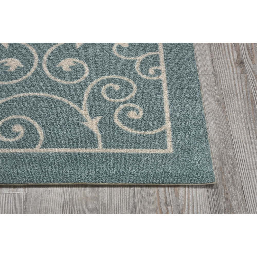 """Home & Garden Area Rug, Light Blue, 2'3"""" x 3'9"""". Picture 3"""