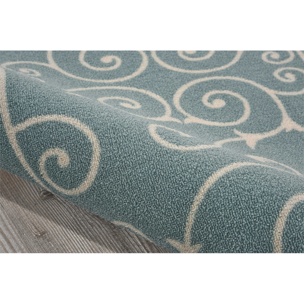 """Home & Garden Area Rug, Light Blue, 2'3"""" x 3'9"""". Picture 4"""