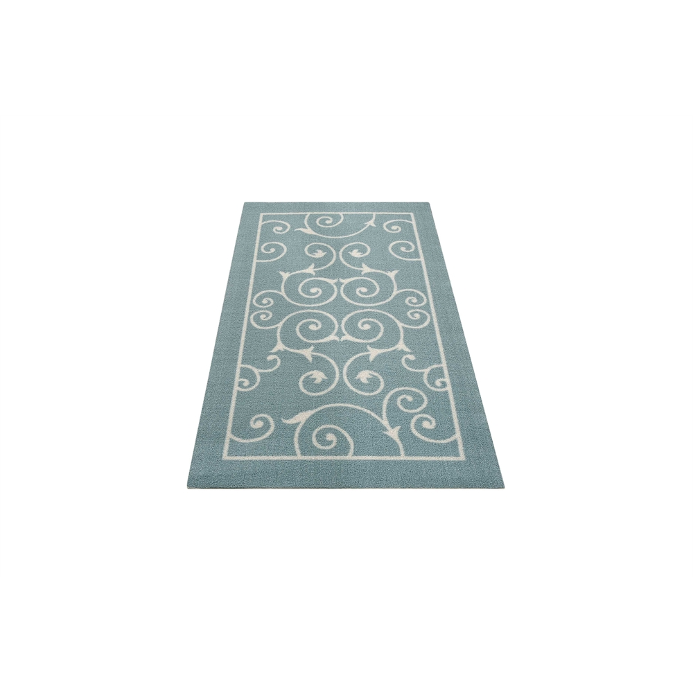 """Home & Garden Area Rug, Light Blue, 2'3"""" x 3'9"""". Picture 5"""