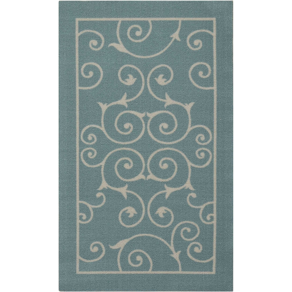 """Home & Garden Area Rug, Light Blue, 2'3"""" x 3'9"""". Picture 1"""