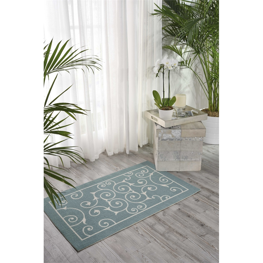 """Home & Garden Area Rug, Light Blue, 2'3"""" x 3'9"""". Picture 6"""
