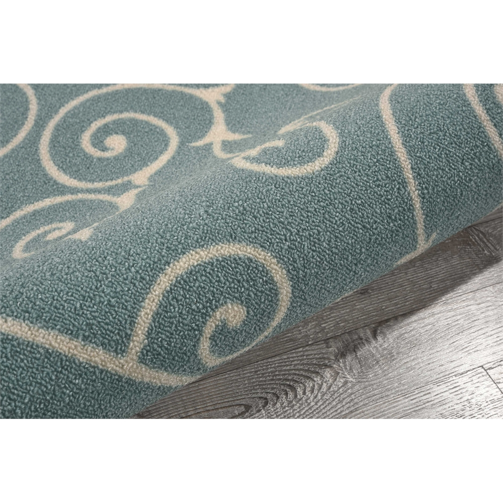 """Home & Garden Area Rug, Light Blue, 2'3"""" x 3'9"""". Picture 7"""