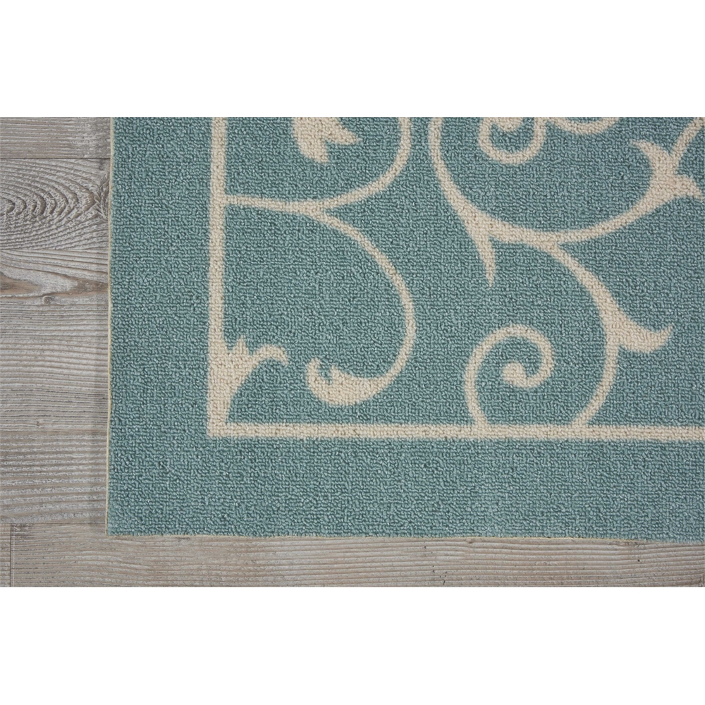 """Home & Garden Area Rug, Light Blue, 2'3"""" x 8'. Picture 2"""