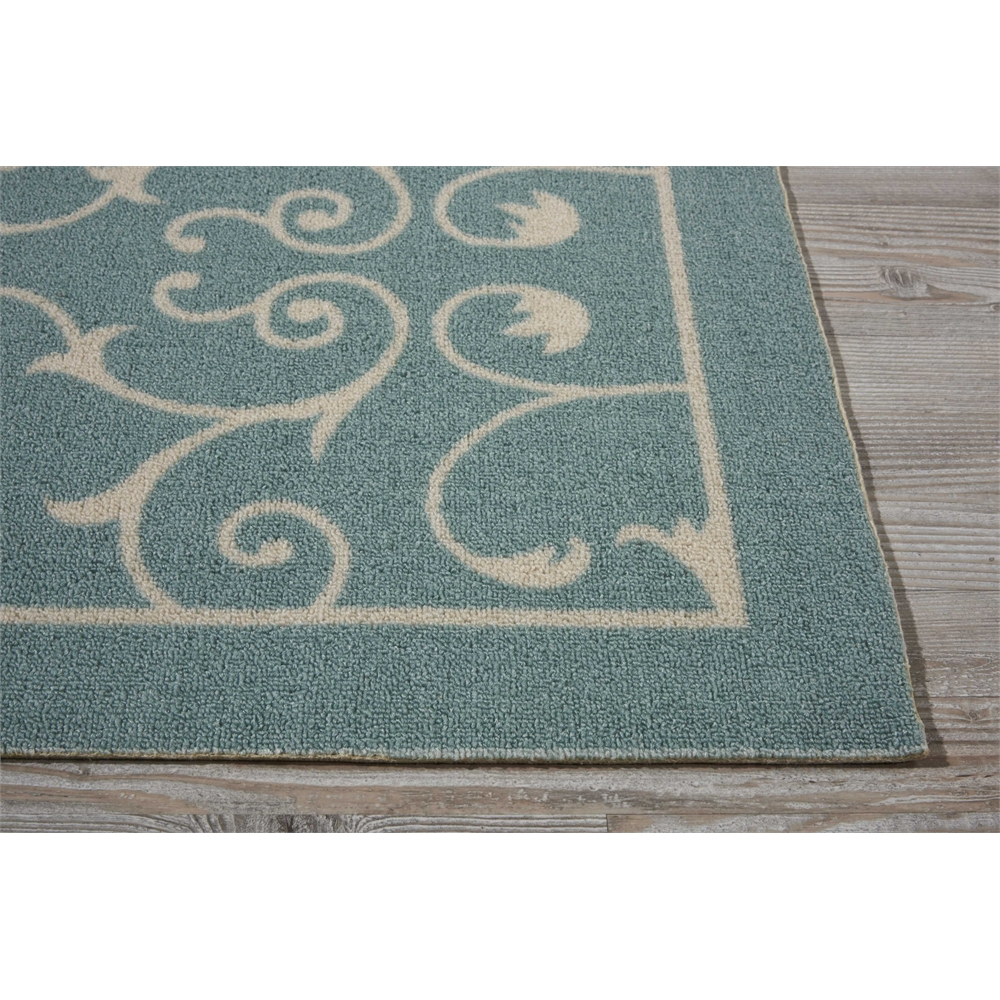"""Home & Garden Area Rug, Light Blue, 2'3"""" x 8'. Picture 3"""