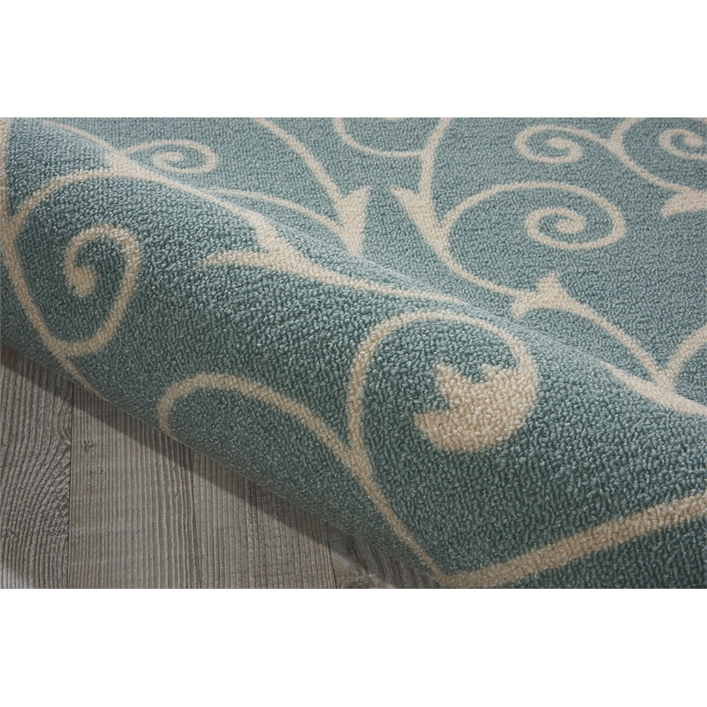 """Home & Garden Area Rug, Light Blue, 2'3"""" x 8'. Picture 4"""