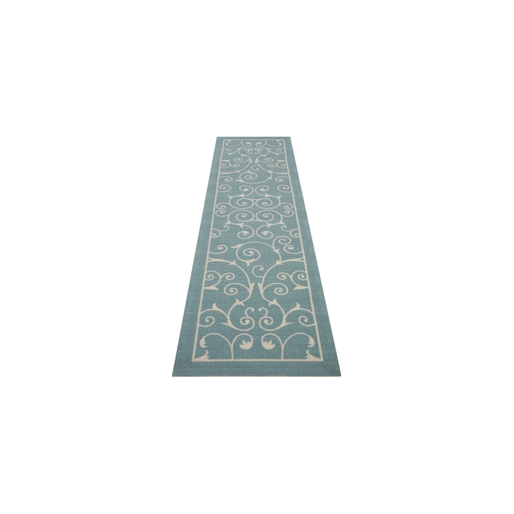 """Home & Garden Area Rug, Light Blue, 2'3"""" x 8'. Picture 5"""