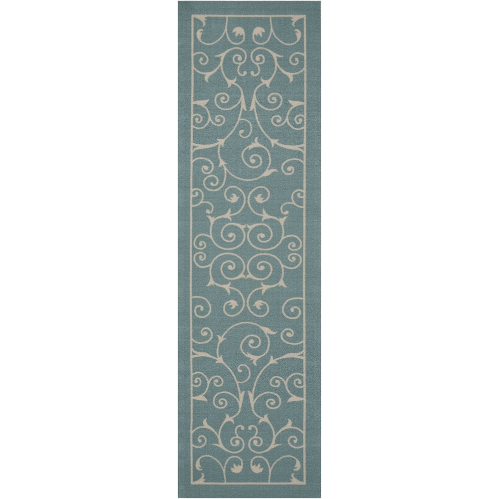 """Home & Garden Area Rug, Light Blue, 2'3"""" x 8'. Picture 1"""