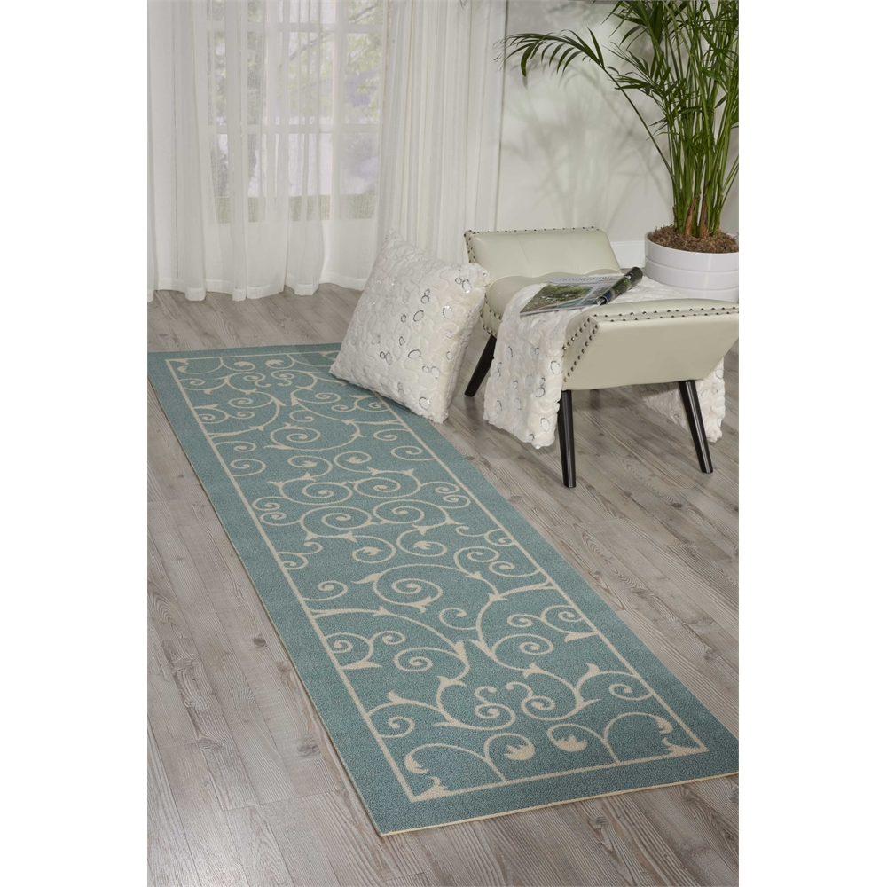 """Home & Garden Area Rug, Light Blue, 2'3"""" x 8'. Picture 6"""