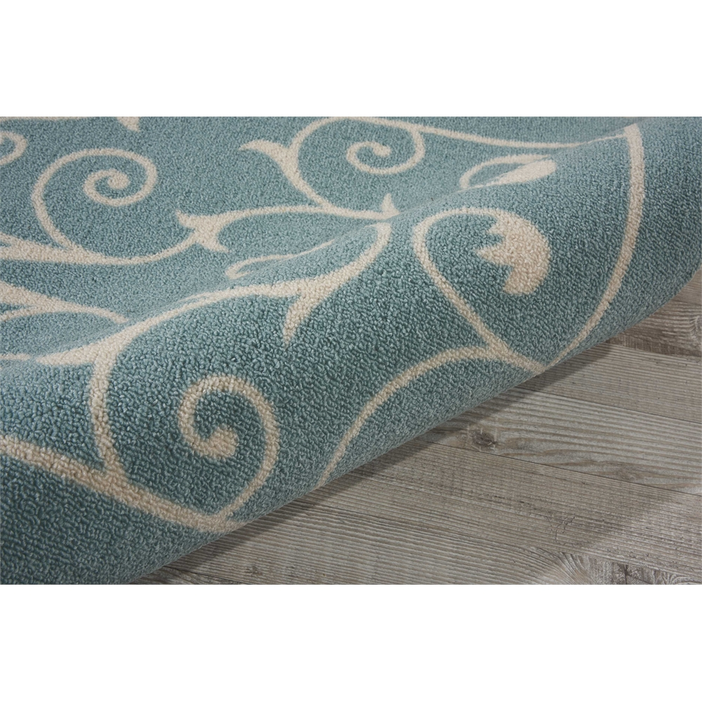 """Home & Garden Area Rug, Light Blue, 2'3"""" x 8'. Picture 7"""