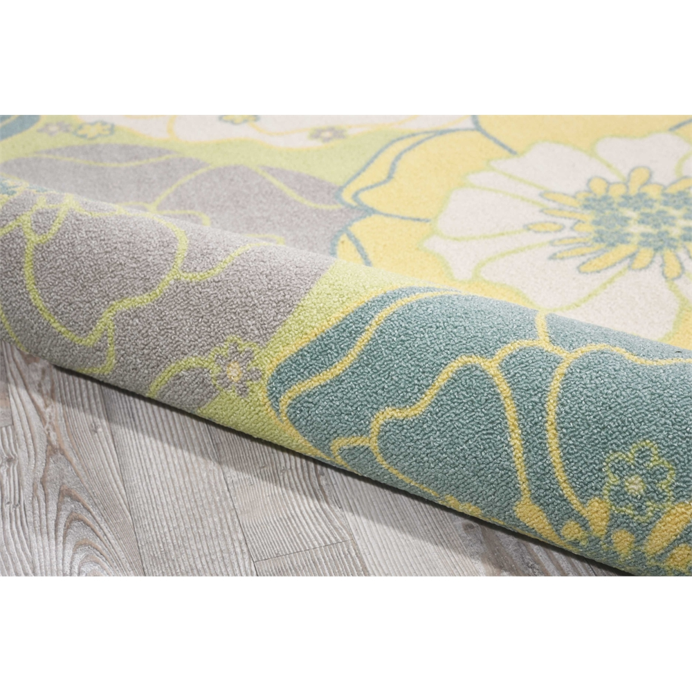 """Home & Garden Area Rug, Green, 7'9"""" x SQUARE. Picture 3"""