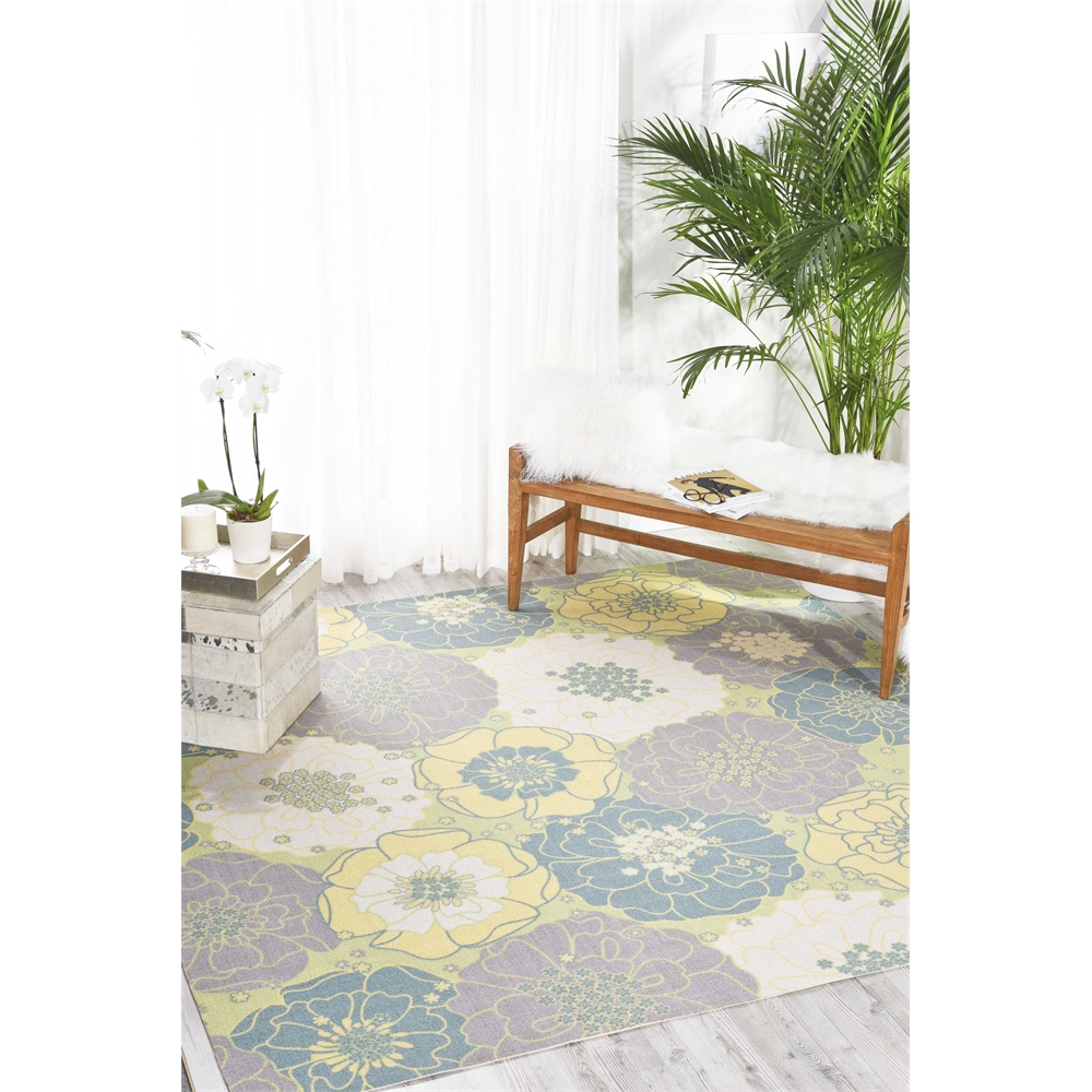 """Home & Garden Area Rug, Green, 7'9"""" x SQUARE. Picture 5"""