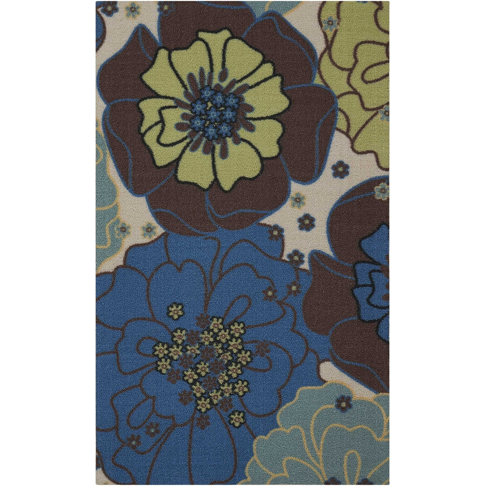 "Home & Garden Area Rug, Light Blue, 2'3"" x 3'9"". Picture 1"