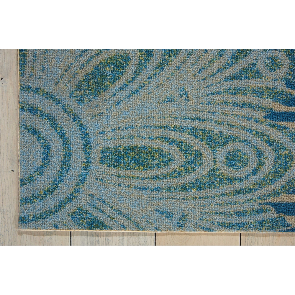 "Home & Garden Area Rug, Blue, 5'3"" x 7'5"". Picture 2"
