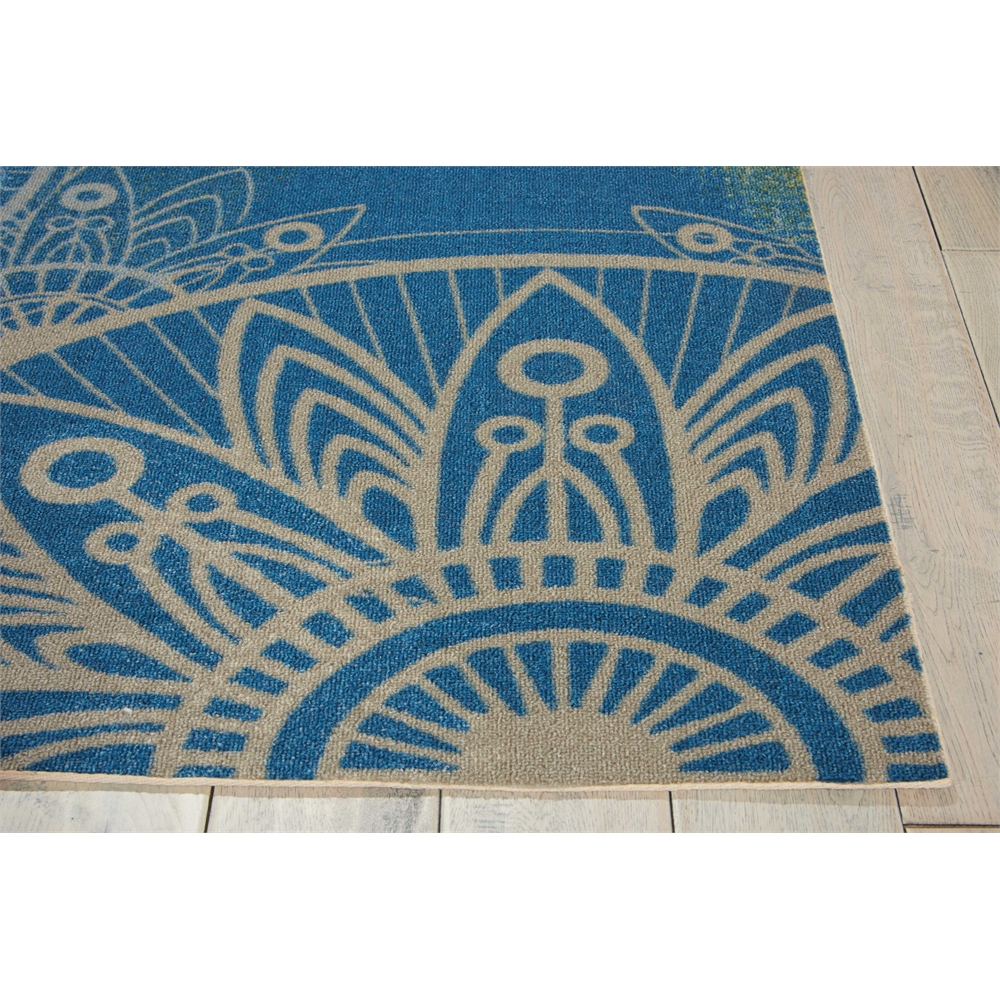 "Home & Garden Area Rug, Blue, 5'3"" x 7'5"". Picture 3"