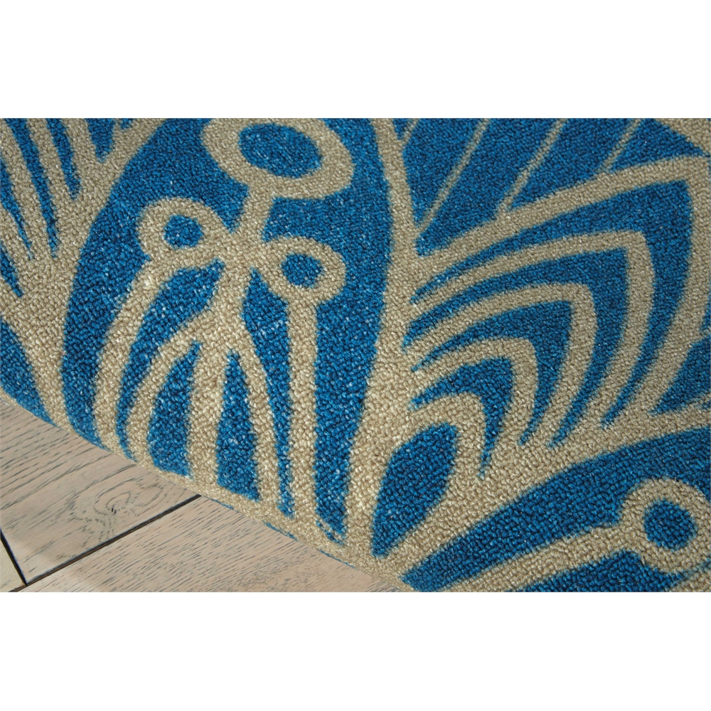 "Home & Garden Area Rug, Blue, 5'3"" x 7'5"". Picture 4"