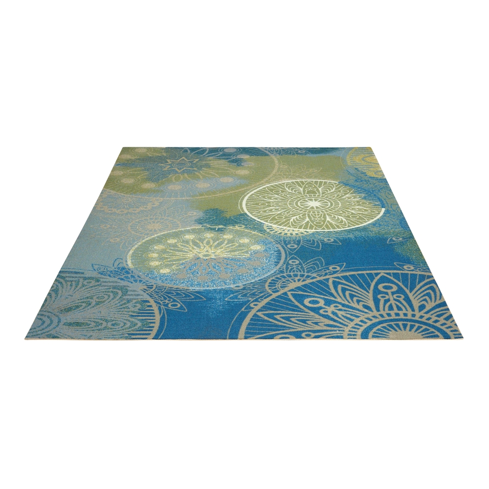 "Home & Garden Area Rug, Blue, 5'3"" x 7'5"". Picture 5"