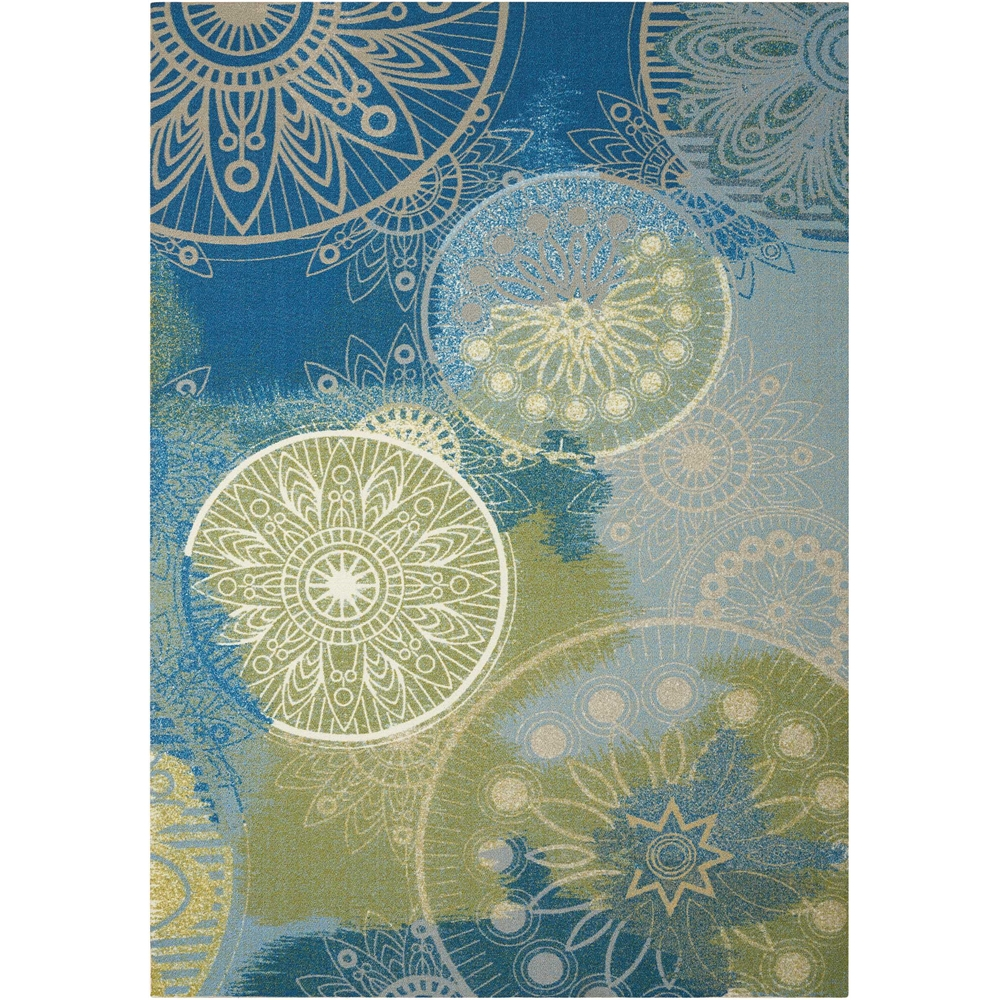 "Home & Garden Area Rug, Blue, 5'3"" x 7'5"". Picture 1"
