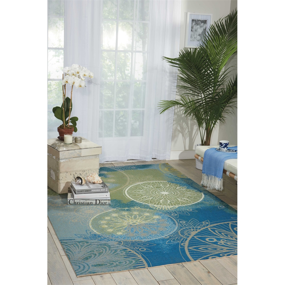 "Home & Garden Area Rug, Blue, 5'3"" x 7'5"". Picture 6"