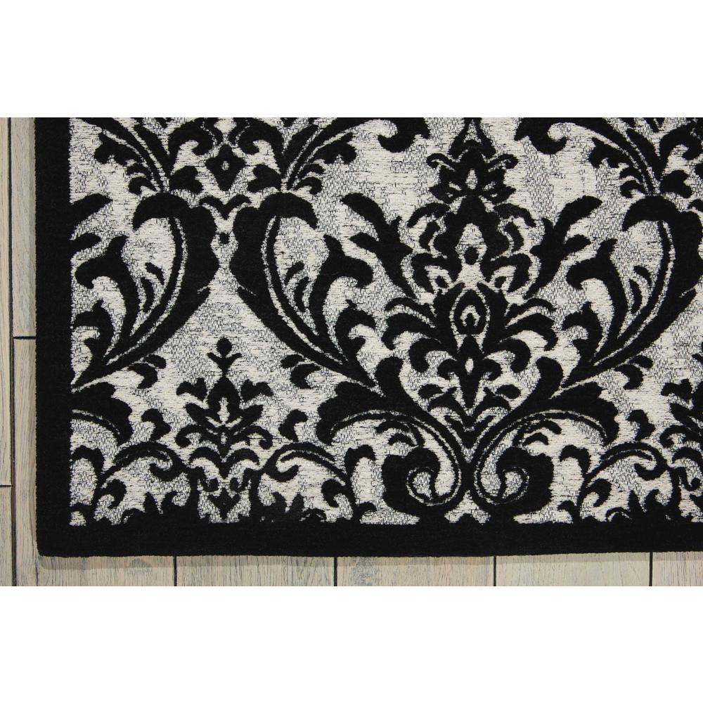 "Damask Area Rug, Black/White, 2'3"" x 3'9"". Picture 2"