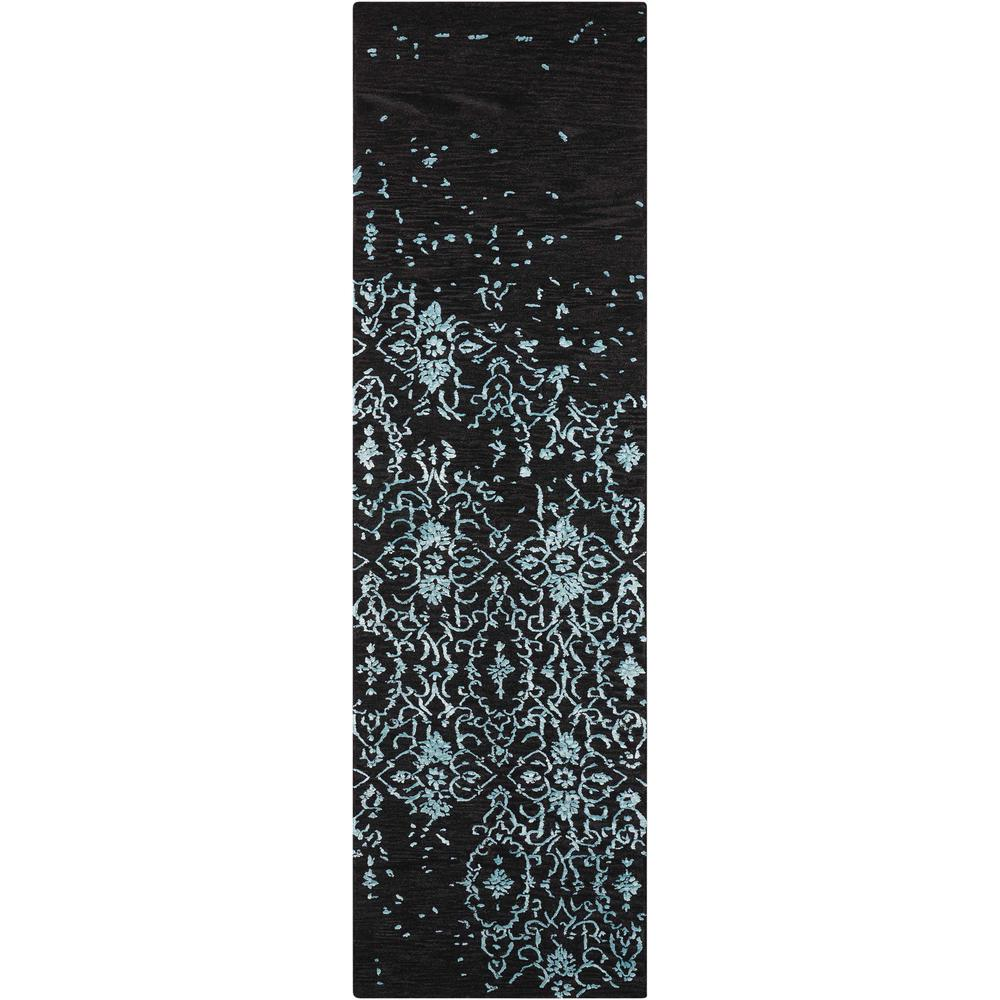 """Opaline Area Rug, Mmidnight Blue, 2'3"""" x 8'. Picture 1"""