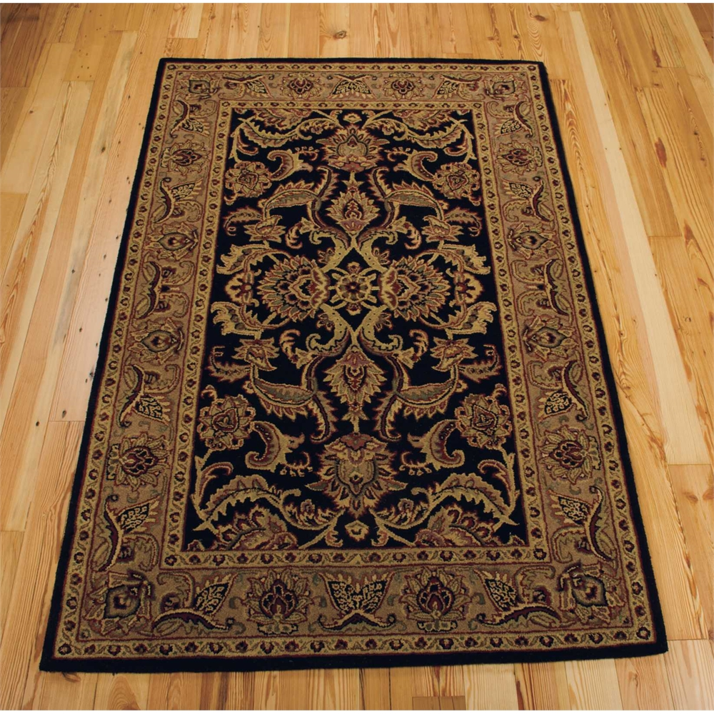 Wool Rugs Made In India: Nourison India House Black Area Rug